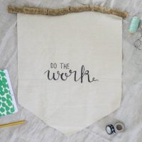 Do The Work Rustic Handlettered Wall Hanging