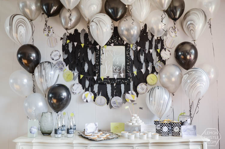 Miss to Mrs Boho Black and White Party