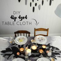 DIY Dip Dye Table Cloth