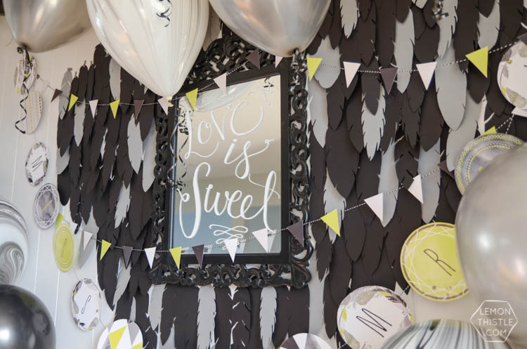2 Boho Feather Walls and a Table runner... and 7 Free Feather Templates!
