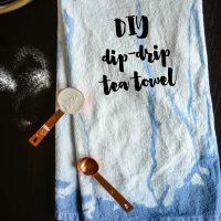 DIY Dip Drip Dye Tea Towel... I love how organic this looks compared to normal dip dye!