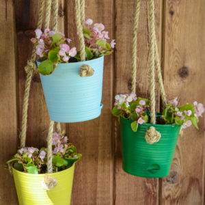 DIY Hanging Patio Planters