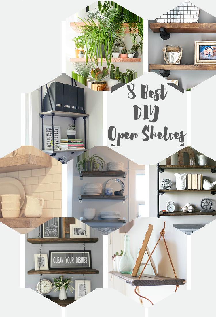 8 Best DIY Open Shelves