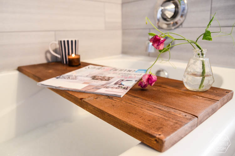DIY Wooden Bath Caddy - Lemon Thistle