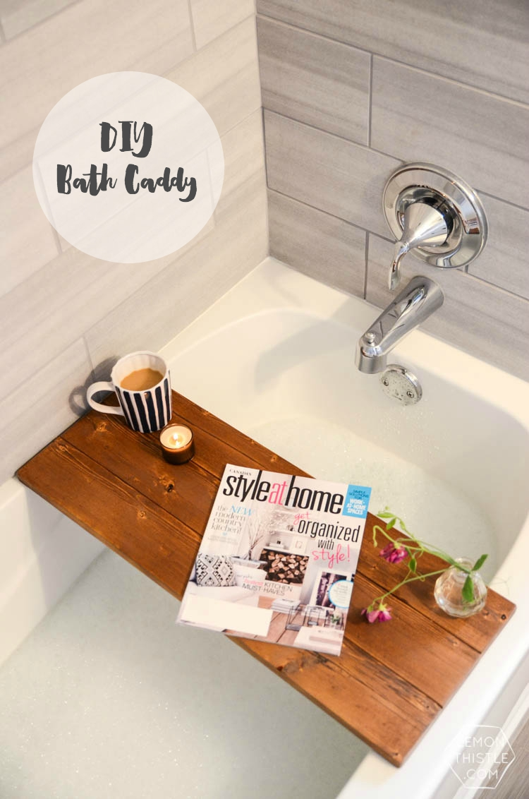 DIY Wood Bath Caddy