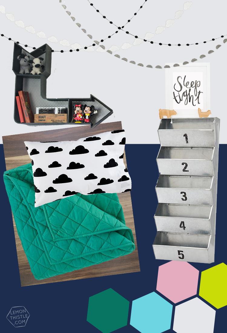 Big Kids Bedroom Moodboard! Gender neutral for boy girl twin toddlers
