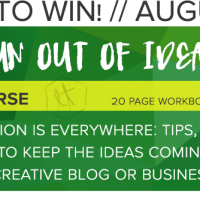 Enter to Win! Never Run Out of Ideas Again Mini E Course