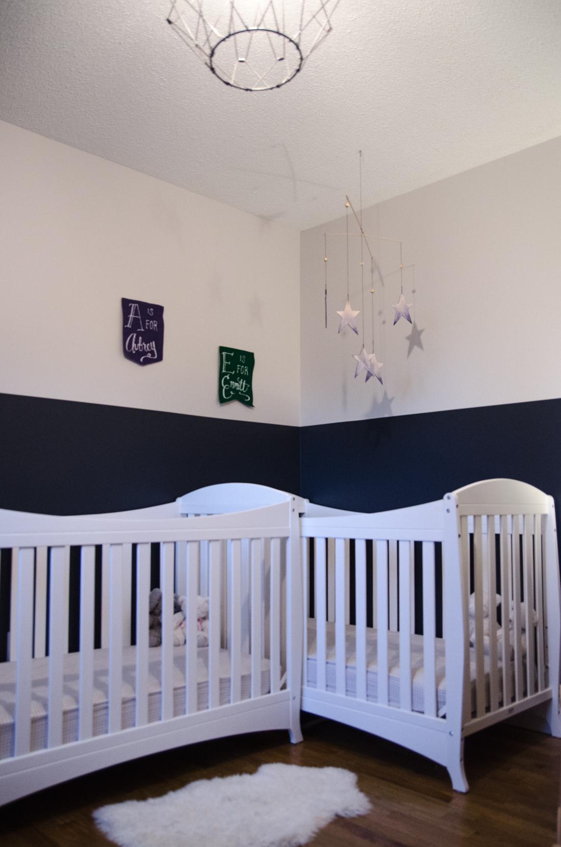 Boy Girl Twin Nursery // gender neutral but not boring!