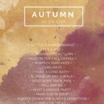 Autumn To-Do List