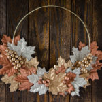 DIY Simple Metallic Autumn Wreath