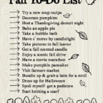 Fall to-do list!