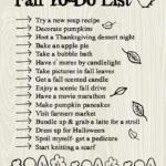 Fall to-do list!