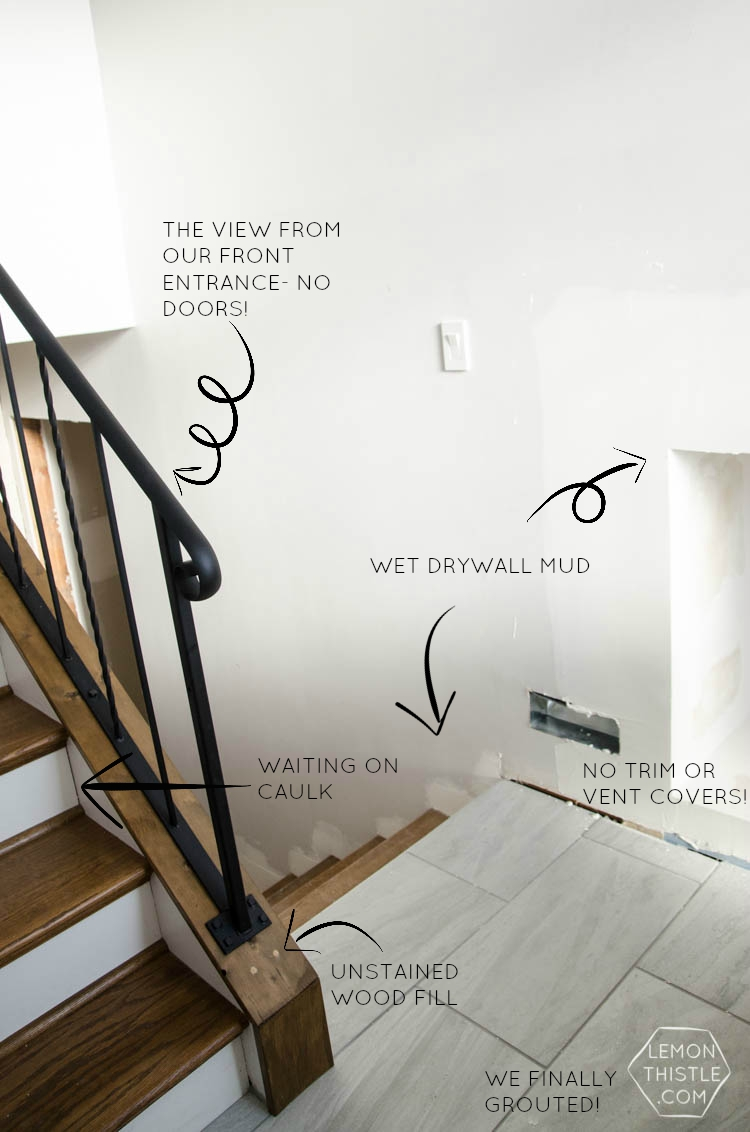 Life Doesn't Stop for Renovations- living through it with toddlers