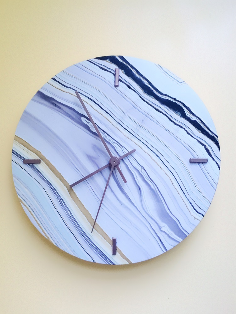 DIY Faux Marble Clock