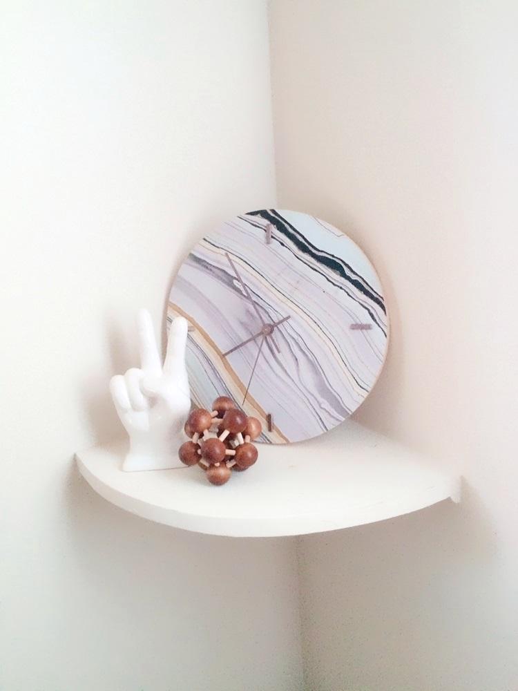 DIY Faux Marble Clock