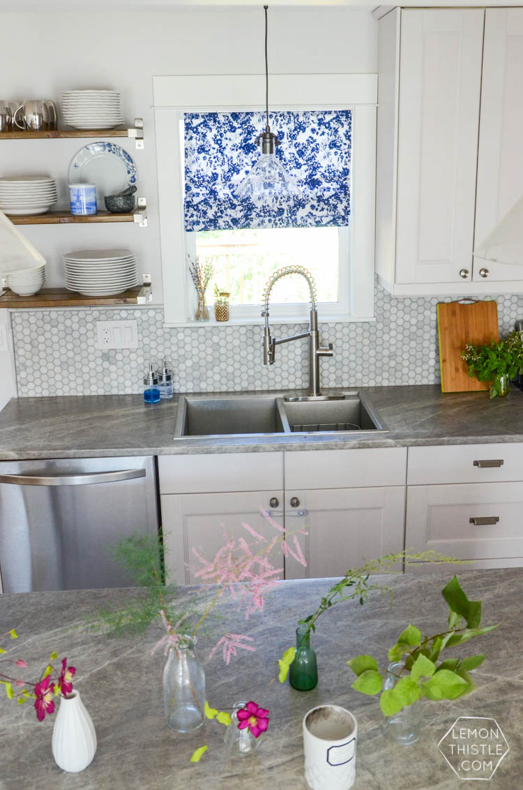 Adding personality to an all white kitchen