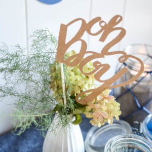 Simple Nautical Baby Shower Decorations