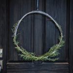 Minimal Holiday Wreath with Twigs and Greenery