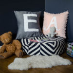 DIY Monogram Pillows with Stripflock