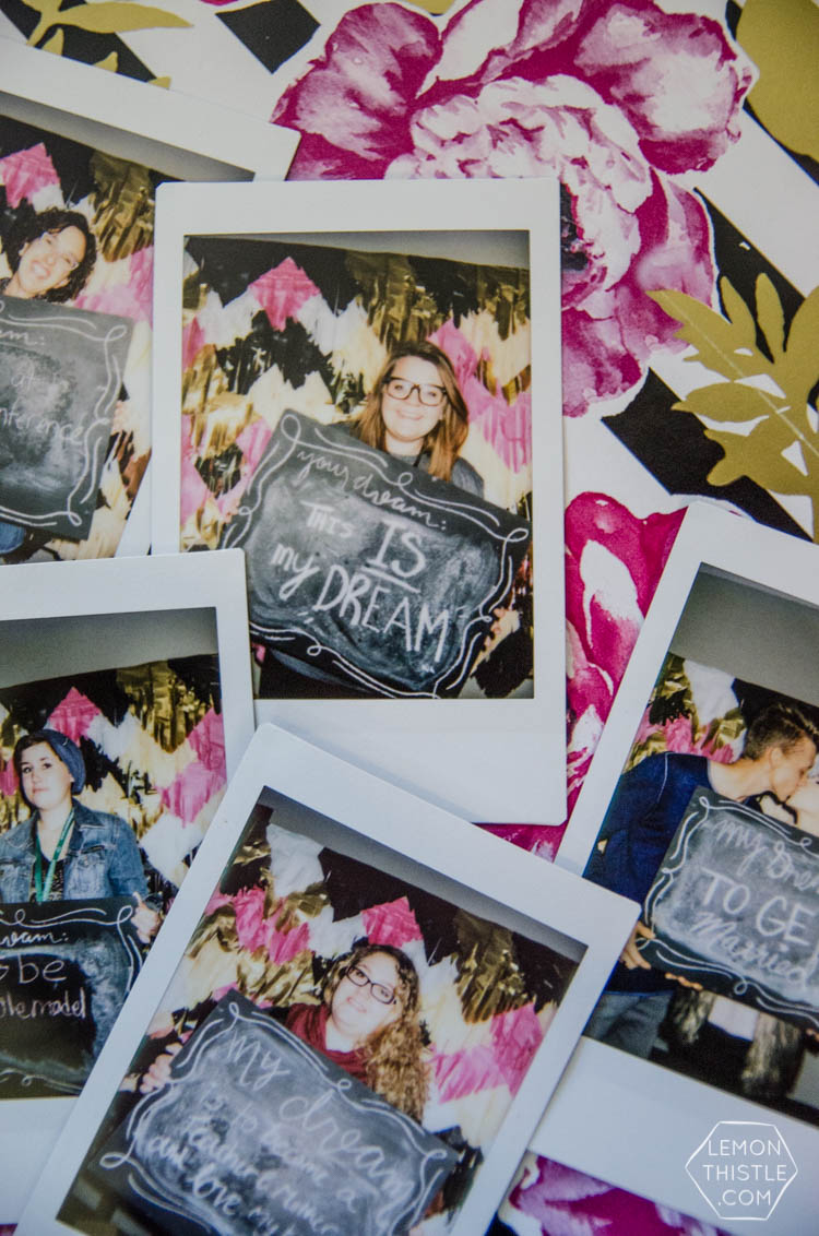 Instax Photo Booth- Dream On Conference (with fringe backdrop)