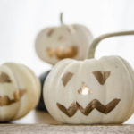 DIY Gold Leaf Mini Jack-o-Lanterns