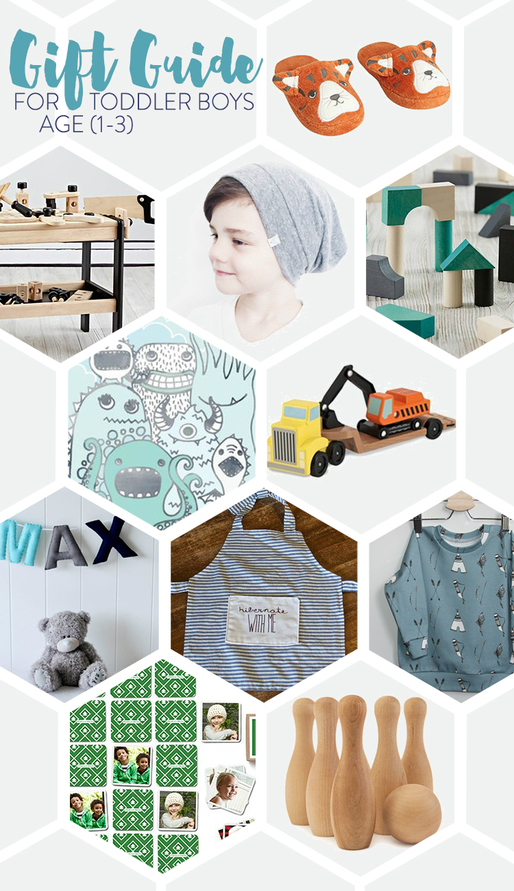 Gift Guide for Toddler Boys age 1-3 to make holiday shopping easy!