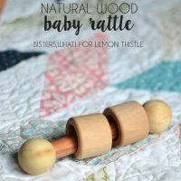 DIY Wood Baby Rattle