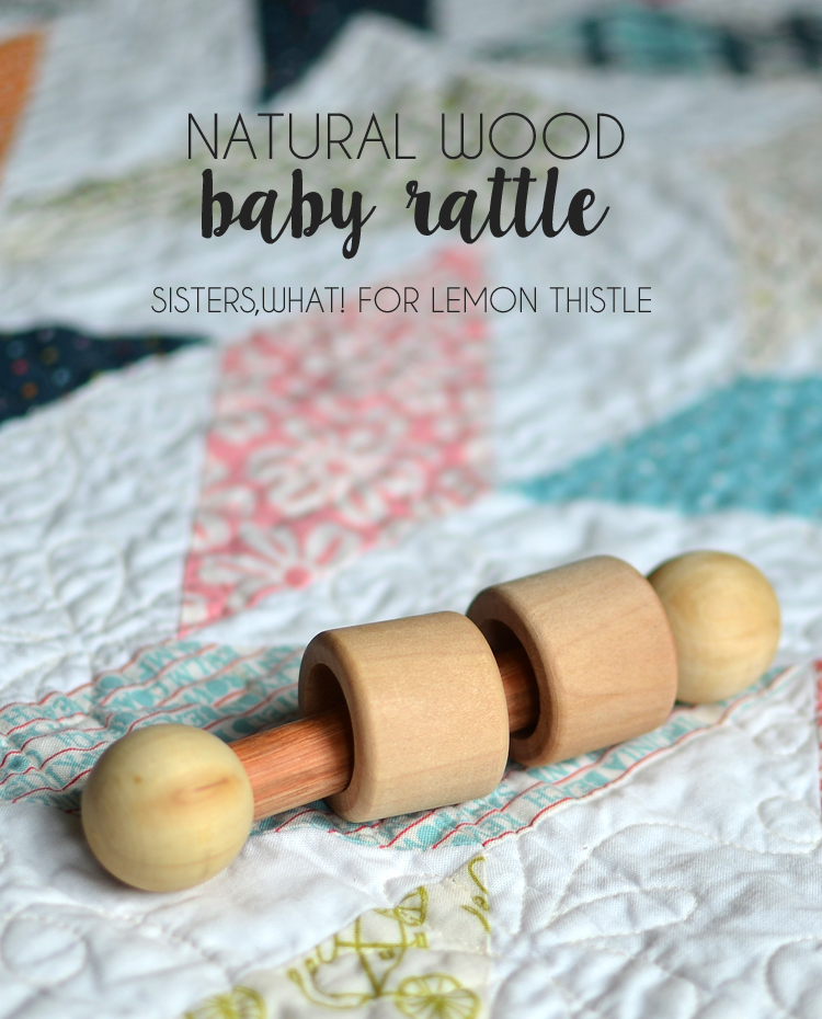 DIY Natural Wood Baby Rattle