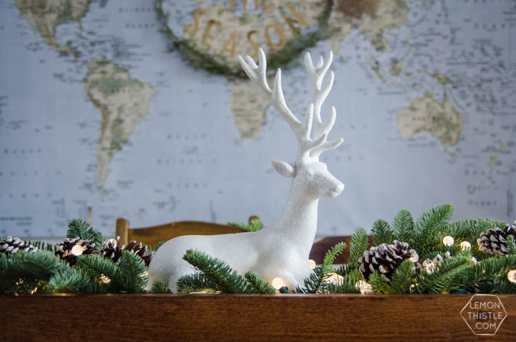 DIY Rustic Holiday Centrepiece- I love that the long box could be used for arrangements year round!