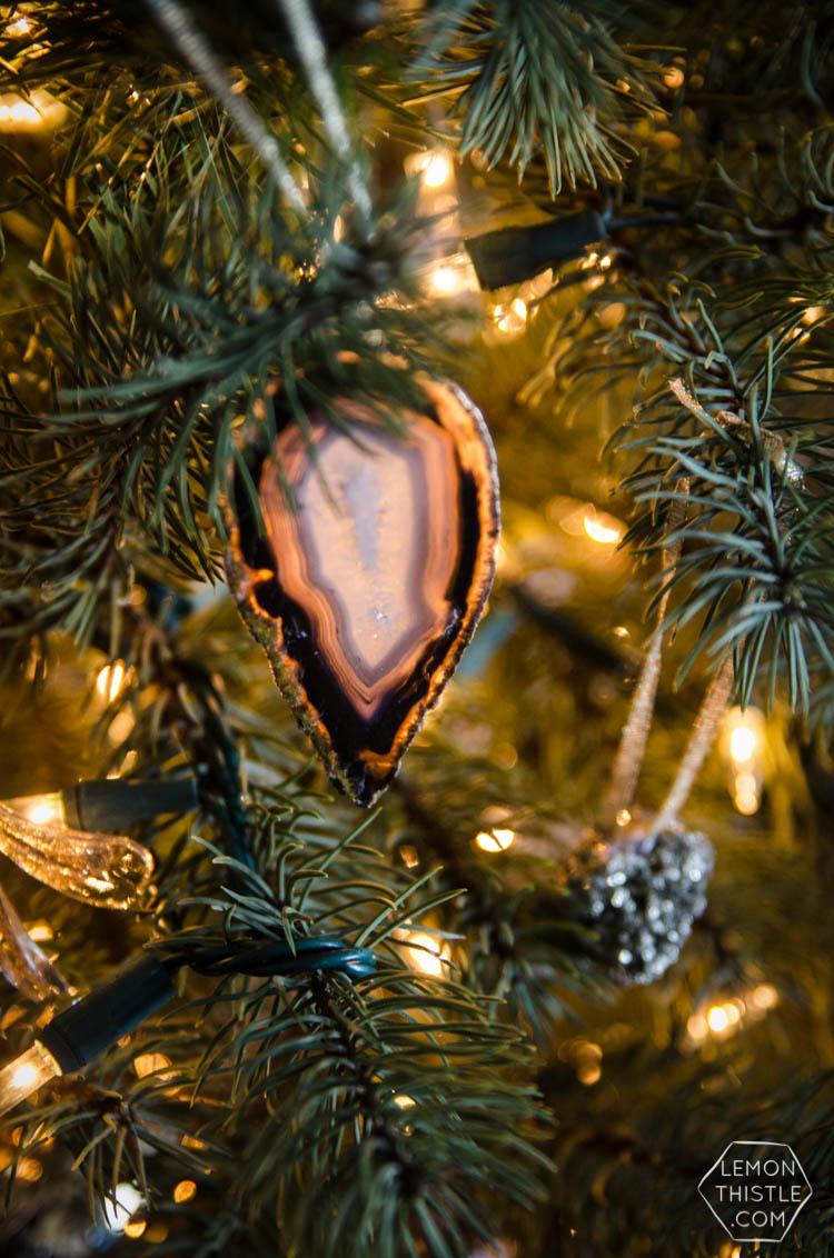 Diy gemstone ornaments lemon thistle