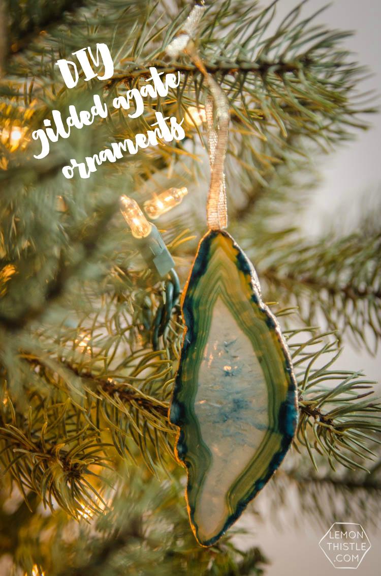 DIY precious gem ornaments- glitzy but natural, perfect Christmas decor!