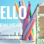 DIY Decoupage Desk Calendar