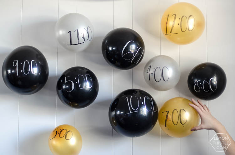 DIY Balloon Memory Wall for New Years Eve!