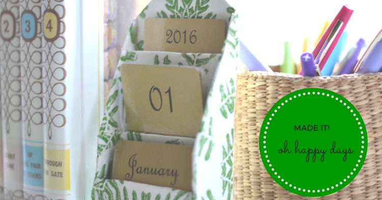 DIY Decoupage Desktop Calendar