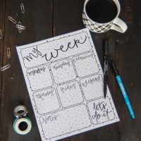 Free Printable 'My Week' Planner