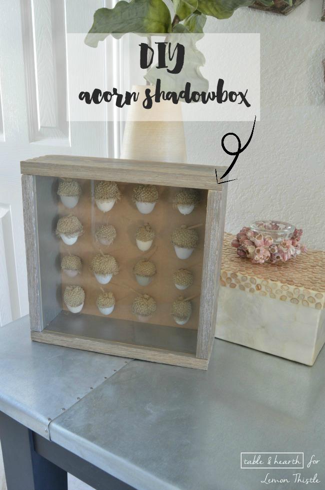 DIY Acorn Shadowbox- gorgeous natural decor!