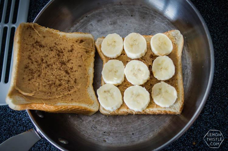 PB Banana and Honey Grilled Sammy