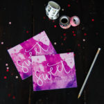 Hand Lettered Valentines Day Post Cards