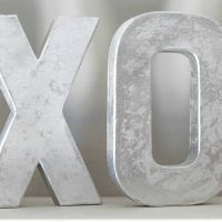 DIY Faux Metal Letters- such a classy decoration!