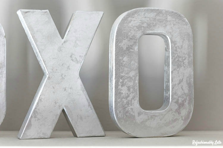 DIY Faux Metal Letters- such a classy decoration!