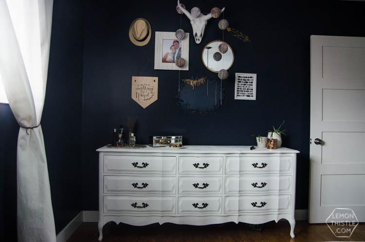 Moody Boho Bedroom Update (and chalk spraypainted dressers!)