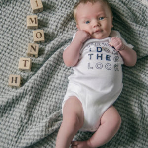 DIY New Kid on the Block Onesie with free printable design