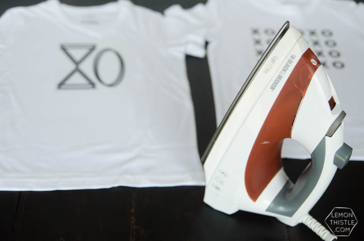 DIY XO T-Shirts... how fun are these to make for valentine's day!? Plus- it's a free printable design
