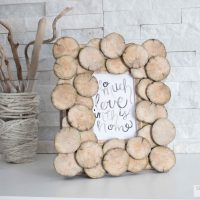 DIY Upcycled Wood Round Photo Frame