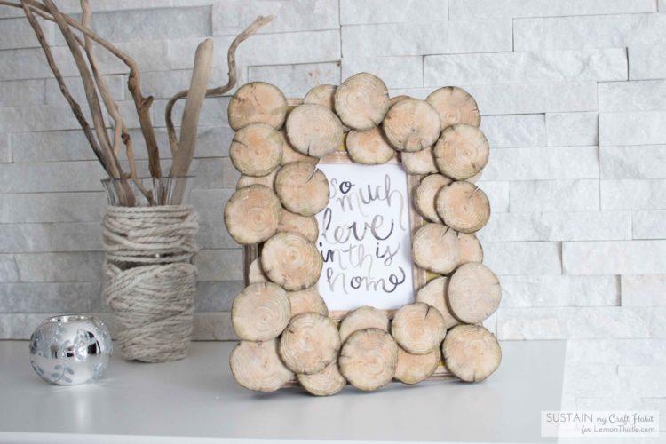 DIY Upcycled Wood Round Photo Frame