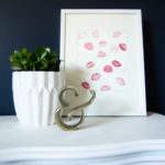 2 Minute DIY: Kisses Wall Art