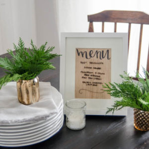 DIY Wood Veneer Erasable Menu Board