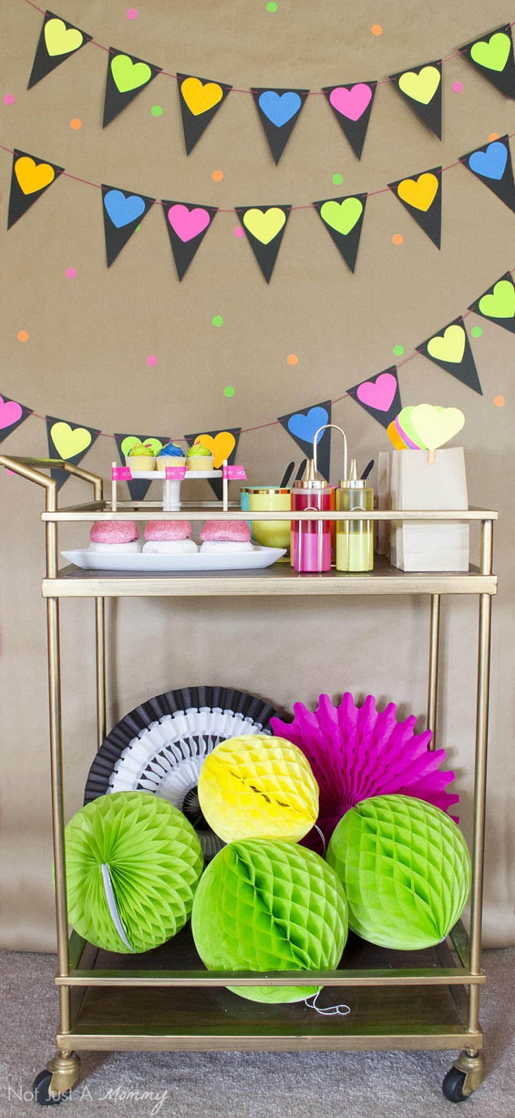 A DIY Neon Valentines Day Party- so fun!!