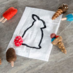 DIY Pom Pom Bunny Tail Tea Towel