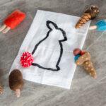 DIY Pom Pom Bunny Tail Tea Towel